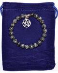 8mm Larvikite & Pentagram bracelet