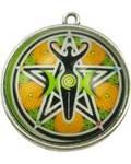 Goddess, Triple Moon & Pentagram dome