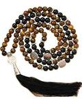 Tiger Eye & Black Agate Mala