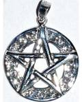 "7/8"" Pentagram Celtic sterling"