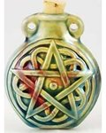 Pentagram Raku Bottle