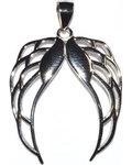 """1 1/4"""" Pair Angel Wings sterling pendant"""