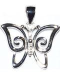 "3/4"" Butterfly sterling pendant"