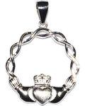 "3/4"" Claddah sterling pendant"
