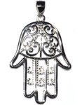 "1 1/4"" Fatima Hand sterling pendant"