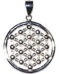 """3/4"""" Flower of Life sterling pendant"""