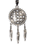 "3/4"" Flower of Life Dreamcatcher sterling pendant"