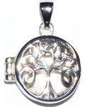 "3/4"" Celtic Tree of Life locket sterling pendant"