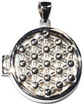"3/4"" Flower of Life locket sterling pendant"