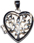"3/4"" Tree Heart locket sterling pendant"