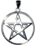 """7/8"""" Pentagram sterling pendant"""