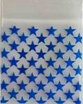 "Blue Stars Resealable bags 2"" x 2"" 100/pkg 2.5mil"