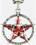Crimson Pentagram Pendant