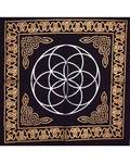 """18""""x18"""" Seed of Life altar cloth"""