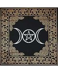 Triple Moon Pentagram Altar/Tarot Cloth