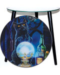 """15 1/2"""" dia Witches Apprentice glass altar table"""
