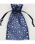 "4"" x 5"" Blue Organza Bag with Silver Stars"
