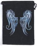 """5""""x 7"""" Angel Wings Black velveteen bag"""