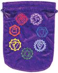 """6""""x 8"""" 7 Chakra Purple velveteen bag"""