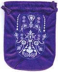 "6""x 8"" Fatima Hand Purple velveteen bag"