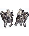 """6 1/2"""" Buddha on Elephant (set of 2)"""