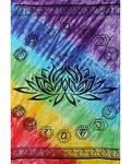 "Chakra Lotus Tapestry 58"" x 82"""