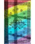 "72"" x 108"" Lotus Chakra Tapestry"