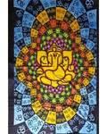 "54"" x 86"" Lotus Ganesh tapestry"