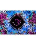 "54"" x 86"" Om multi color tapestry"