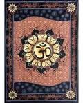 "Om Lotus Tapestry 58"" x 82"""