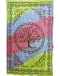 "72"" x 108"" Tree Coexist Tapestry"