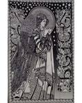"54"" x 86"" Peace Angel black/white"
