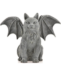 "Winged Cat Gargoyle 6 1/2"" Statue"